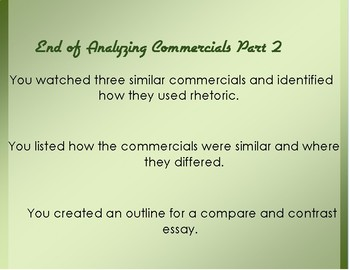 Using Commercials to Analyze Rhetorical Appeals