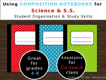 Using Composition Notebooks for Student Organization