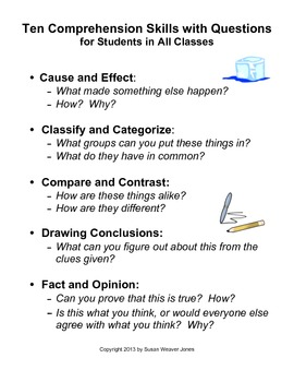 Using Comprehension Skills in Content Areas