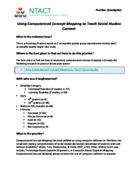 Using Computerized Concept Mapping to Teach Social Studies Content