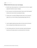 Using Concise Language Worksheet with Key