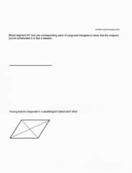 Using Congruent Triangles for Construction Proof