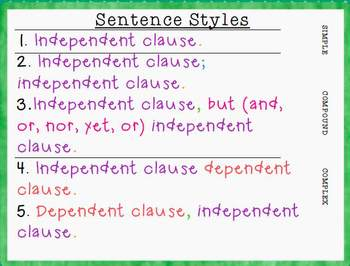 Using Conjunctions & Sentence Styles