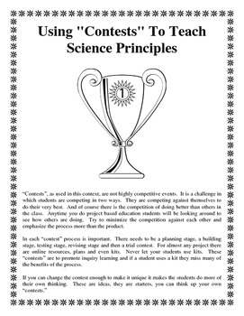 "Using ""Contests"" To Teach Science Principles"