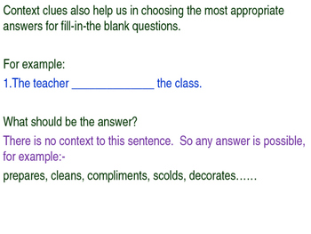 Using Context Clues Powerpoint