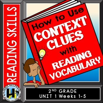 Using Context Clues - 2nd Grade Wonders Reading Series Vocabulary Unit 1 Pack