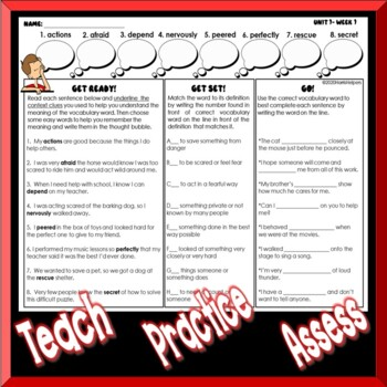 Using Context Clues - 2nd Grade Wonders Reading Series Vocabulary Unit 4 Pack
