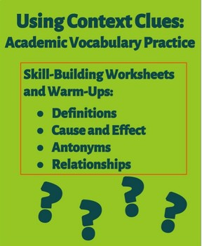Using Context Clues: Academic Vocabulary Practice