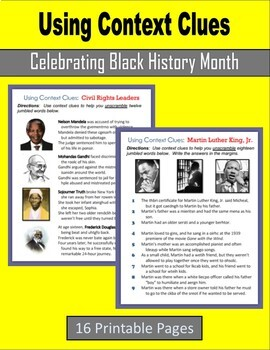 Using Context Clues (Celebrating Black History Month)