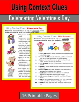 Using Context Clues (Celebrating Valentine's Day)