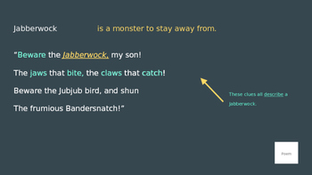 Using Context Clues PowerPoint with Jabberwocky practice