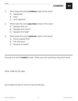 Using Context Clues (Reading Level 2.0-3.5) - Enhanced
