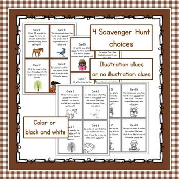 Using Context Clues Scavenger Hunt Grades 1 - 3
