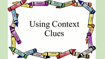 Using Context Clues: Small Group Activity