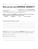 Using Context Clues- Strategies #1 Worksheet