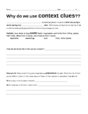 Using Context Clues- Strategies #1 Worksheet