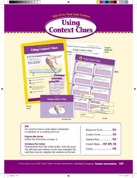 Using Context Clues (Take It to Your Seat Centers)