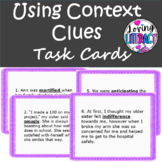 Using Context Clues Task Cards- Common Core Aligned Grades 5 & 6