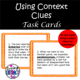 Using Context Clues Task Cards- Common Core Aligned Grades 7 & 8