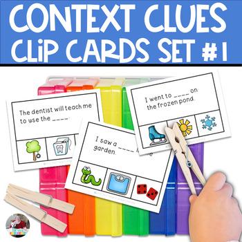 Context Clues Clip Cards Set #1-  Store Runaway Best Seller