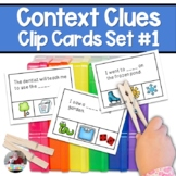 Context Clues Clip Cards Set #1-  Store Runaway Best Seller