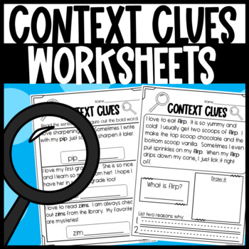 Using Context Clues Worksheets
