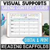 Reading with Context Clues Google Slides™ Graphic Organizers