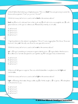 Using Context Clues to Determine Dictionary Definitions of Homographs: Bundle!