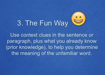 Using Context Clues to Determine Unfamiliar Vocabulary - Grade 8