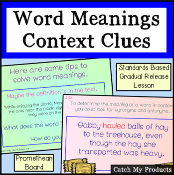 Using Context Clues to Determine Word Meanings for Promethean Board Use