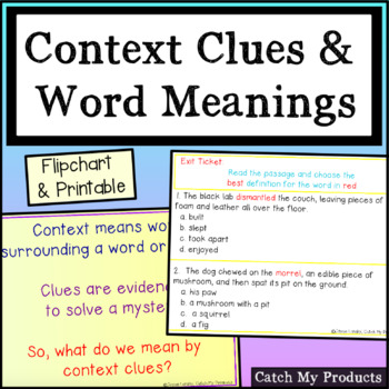 Context Clues Activities for PROMETHEAN Board