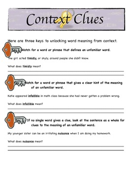 Using Context Clues to understand word meaning