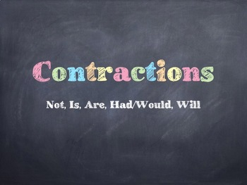 Using Contractions PowerPoint