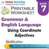 Using Coordinate Adjectives Printable Worksheet, Grade 7