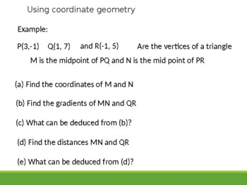 Using Coordinate geometry