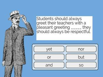 Using Coordinating Conjunctions Digital Boom Cards (task cards) no-prep