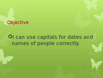Using Correct Capitalization Powerpoint