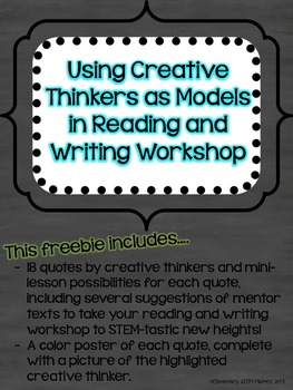 Using Creative Thinkers as Models in Reading and Writing Workshop