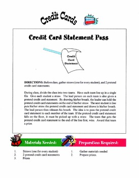 Using Credit Cards Lesson
