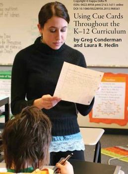 Using Cue Cards Throughout the K-12 curriculum