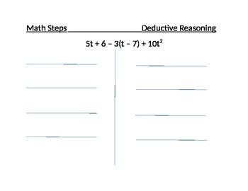 Using Deductive Reasoning to Simplify an Algebraic Express