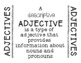 Using Descriptive Adjectives in Writing Practice Writing Activity Cards