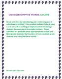 Using Descriptive Color Words