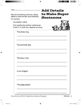 Using Descriptive Details: Super Sentences