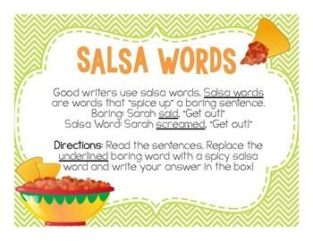 Using Descriptive Words - Salsa Words