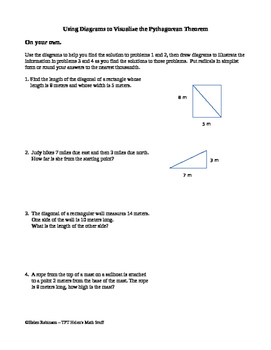 Using Diagrams to Visualize the Pythagorean Theorem
