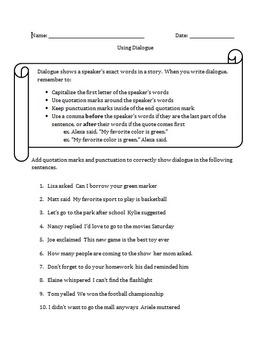 Using Dialogue- Editable