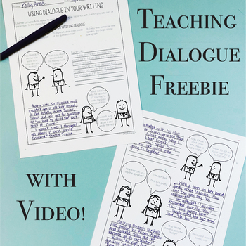 Dialogue Writing Lesson Plan - Freebie and Video