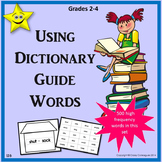 Using Dictionary Guide Words Activity