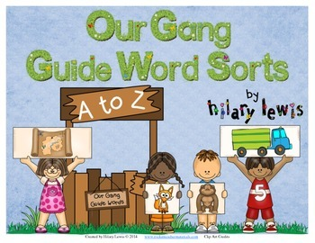 Guide Words in the Dictionary - Word Sort